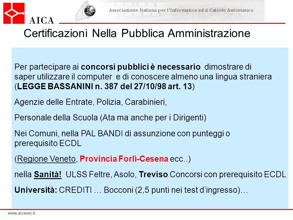 Certificazioni Nella Pubblica Amministrazione