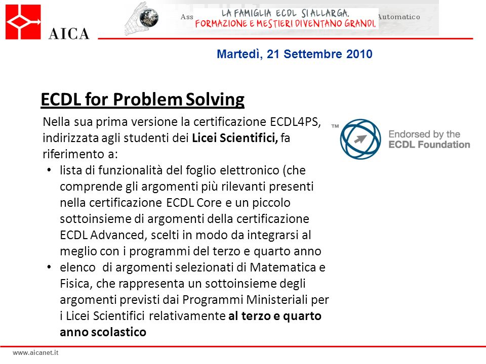 ECDL for Problem Solving