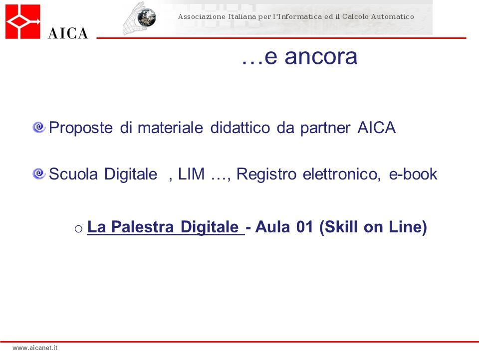 …e ancora Proposte di materiale didattico da partner AICA