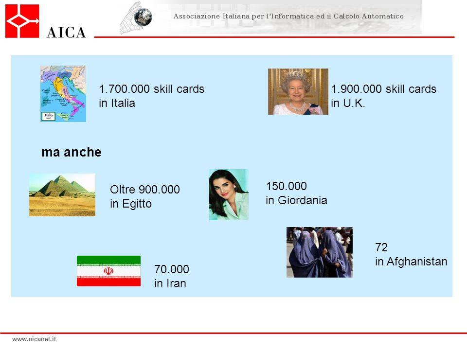 ma anche 1.700.000 skill cards in Italia 1.900.000 skill cards in U.K.
