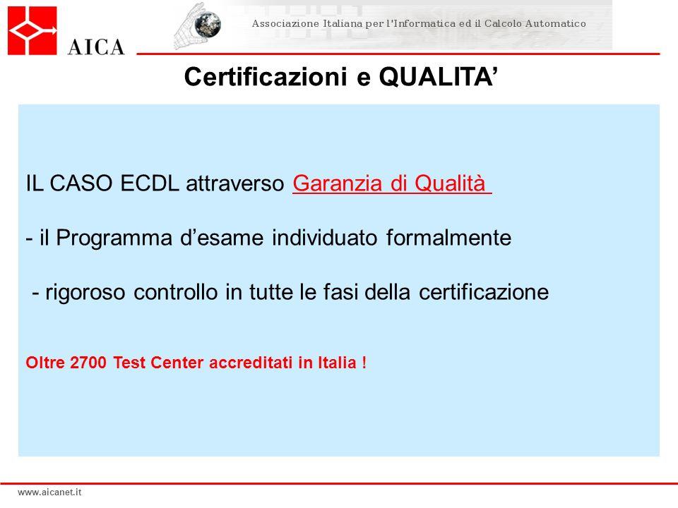 Certificazioni e QUALITA'