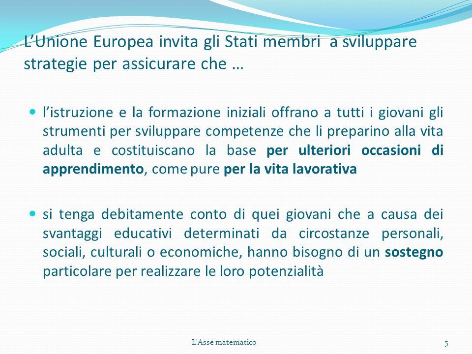 L'Unione Europea invita gli Stati membri a sviluppare strategie per assicurare che …