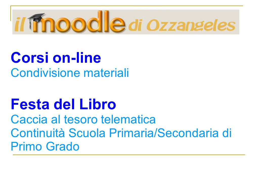 Corsi on-line Condivisione materiali Festa del Libro