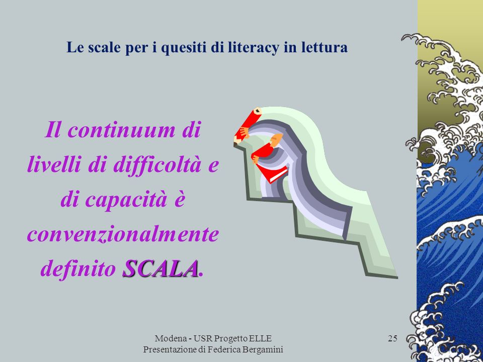 Le scale per i quesiti di literacy in lettura