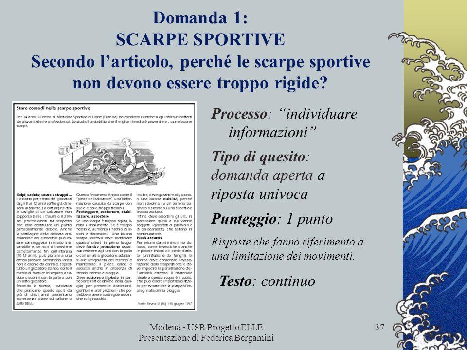 Modena - USR Progetto ELLE Presentazione di Federica Bergamini