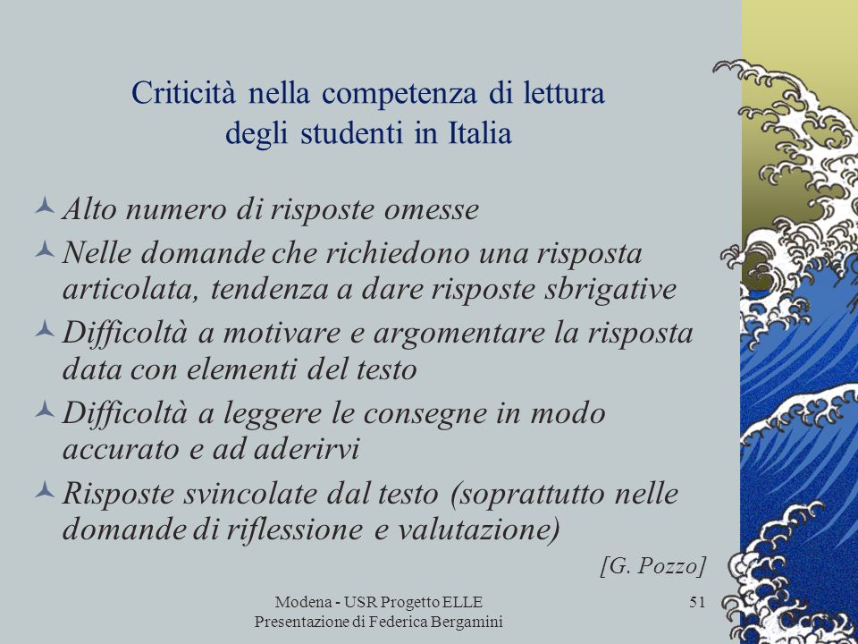 Criticità nella competenza di lettura degli studenti in Italia