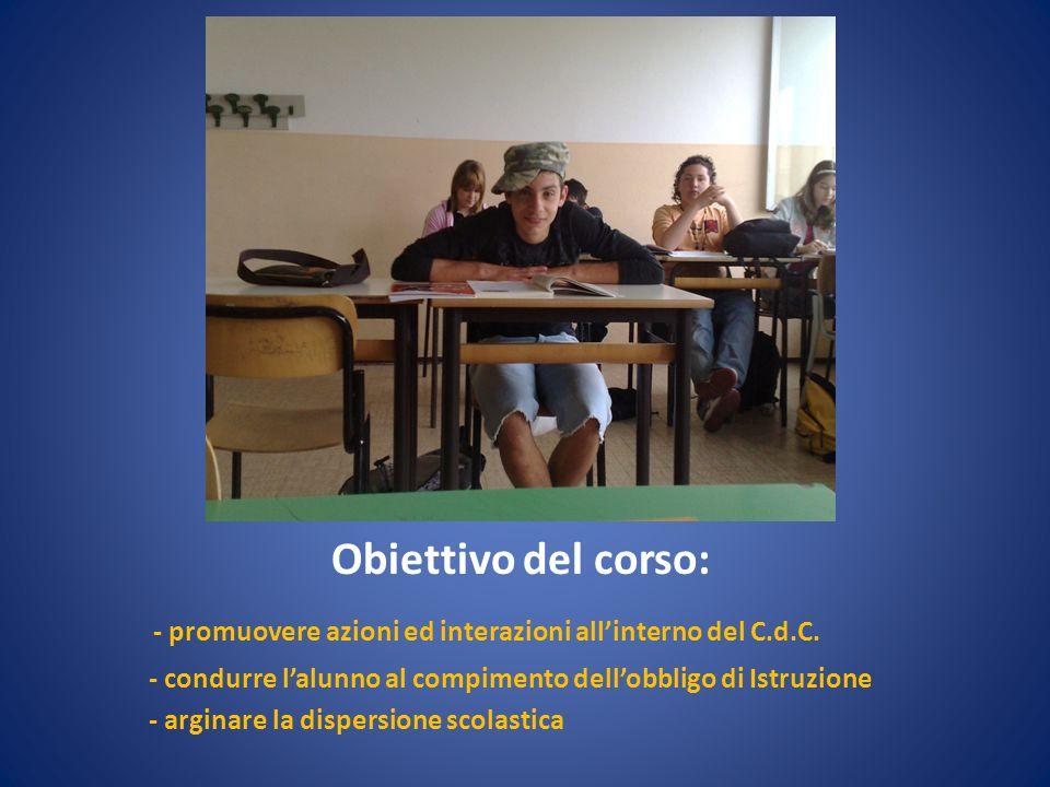 - promuovere azioni ed interazioni all'interno del C.d.C.