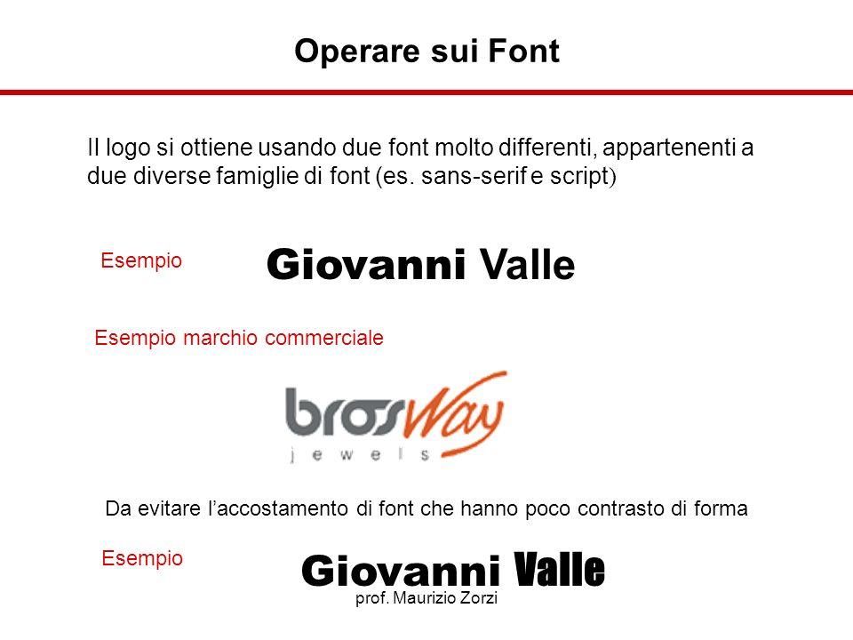 Giovanni Valle Giovanni Valle Operare sui Font