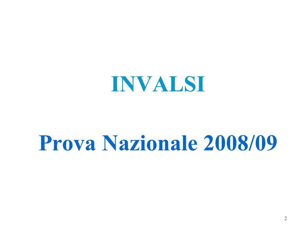 INVALSI Prova Nazionale 2008/09