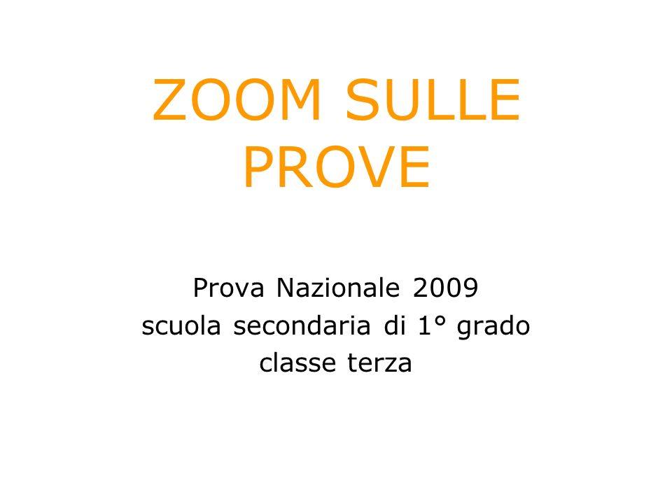 Prova Nazionale 2009 scuola secondaria di 1° grado classe terza