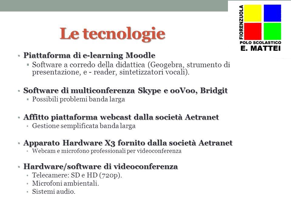 Le tecnologie Piattaforma di e-learning Moodle