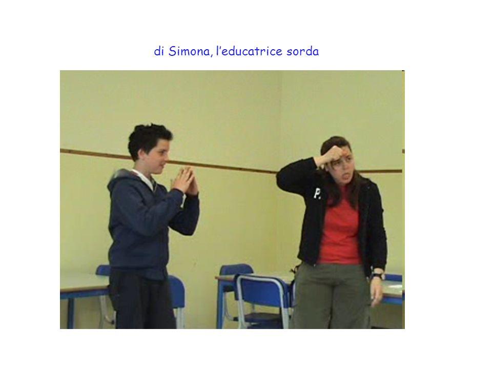 di Simona, l'educatrice sorda