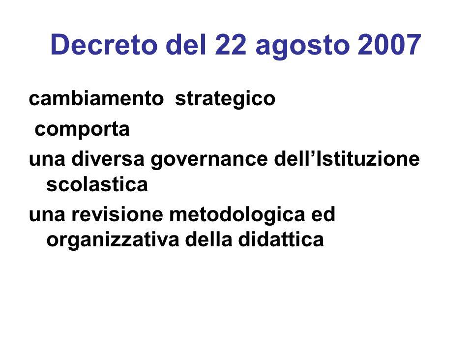 Decreto del 22 agosto 2007 cambiamento strategico comporta