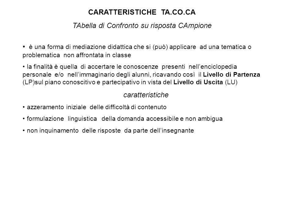 CARATTERISTICHE TA.CO.CA