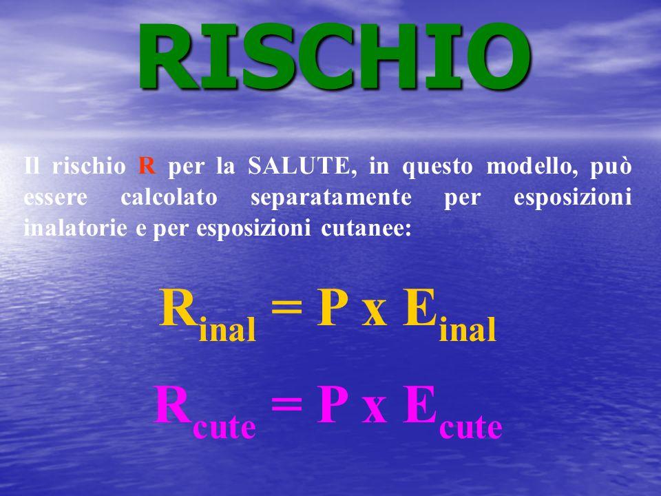 RISCHIO Rinal = P x Einal Rcute = P x Ecute
