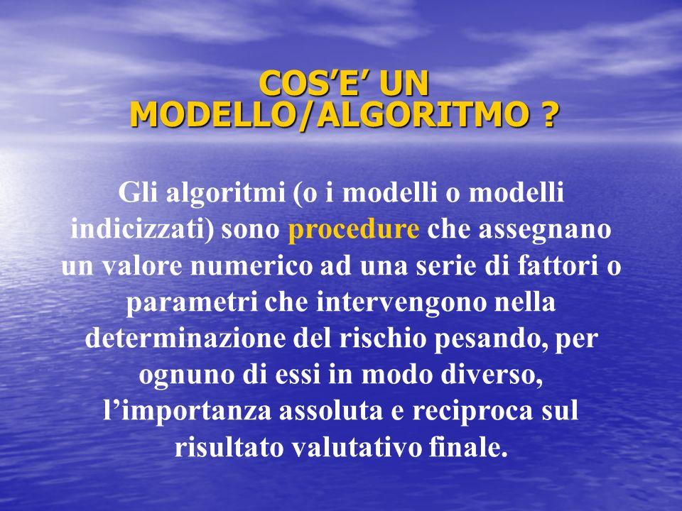 COS'E' UN MODELLO/ALGORITMO