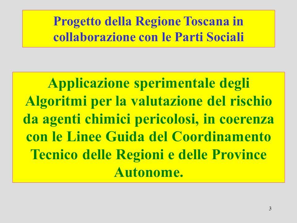 Progetto della Regione Toscana in collaborazione con le Parti Sociali