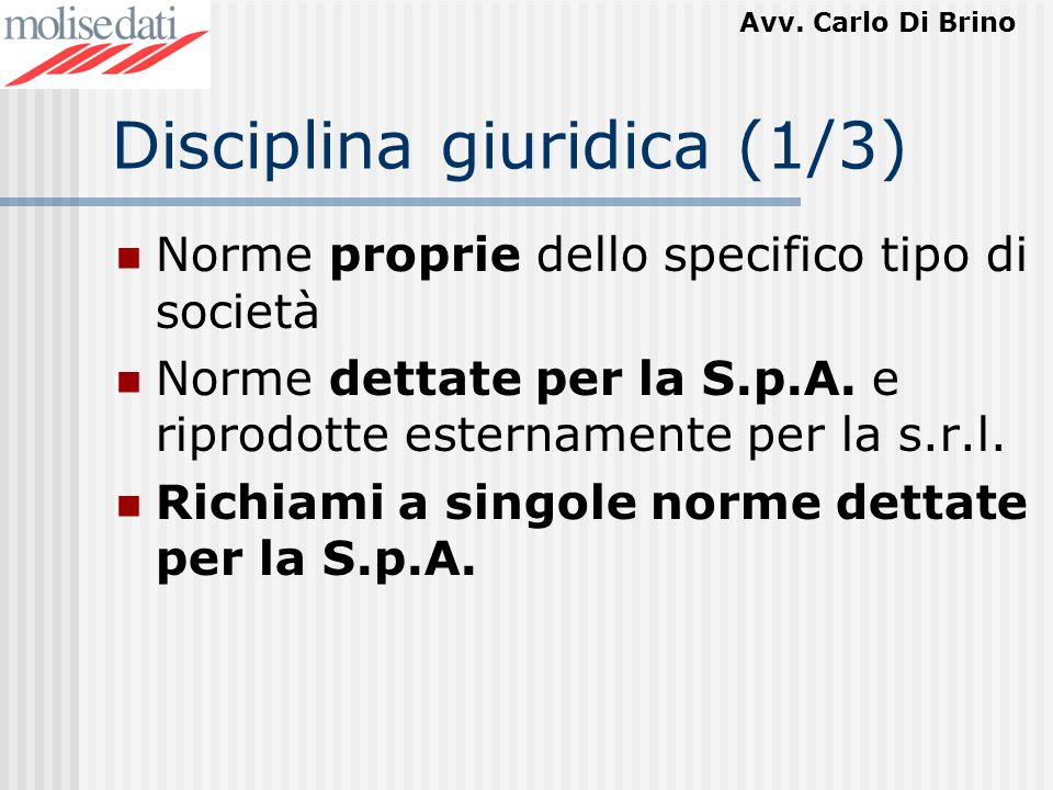 Disciplina giuridica (1/3)
