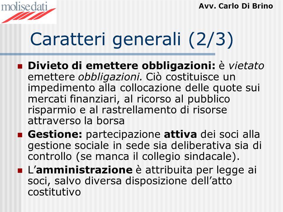 Caratteri generali (2/3)