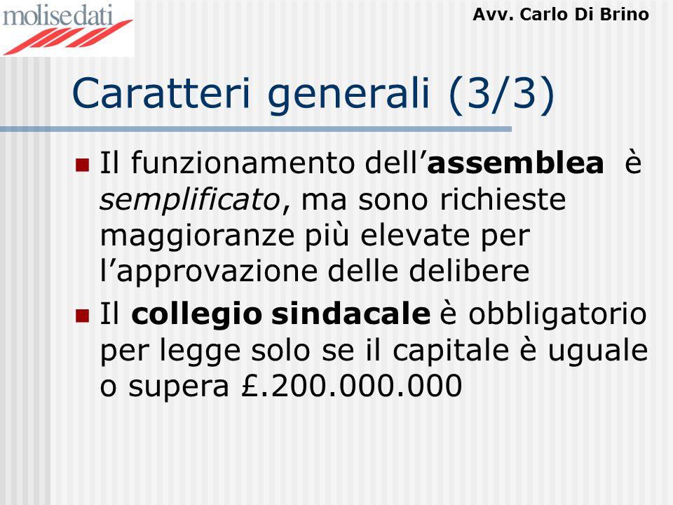 Caratteri generali (3/3)