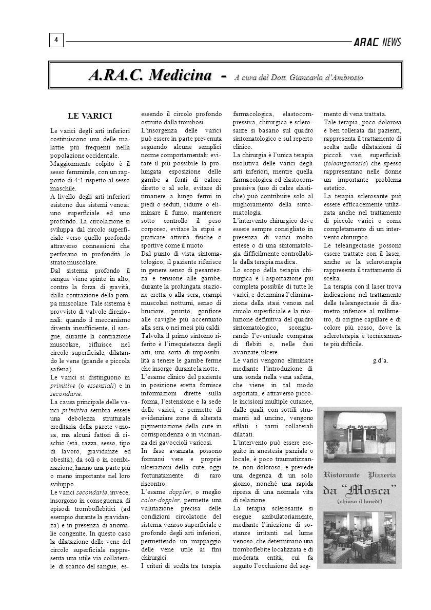 A.RA.C. Medicina - A cura del Dott. Giancarlo d'Ambrosio