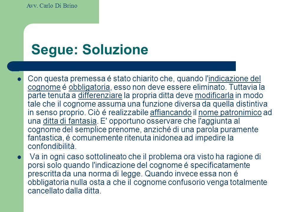 Segue: Soluzione
