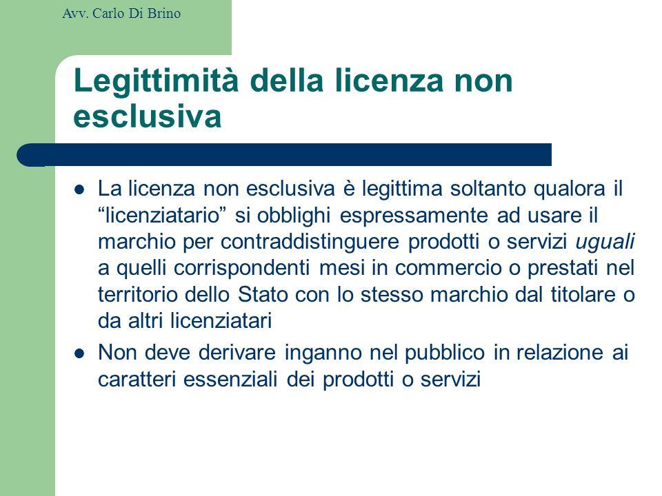 Legittimità della licenza non esclusiva
