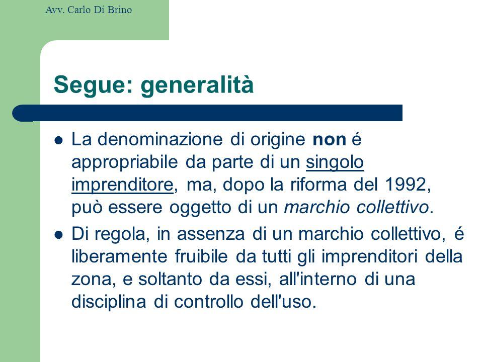 Segue: generalità