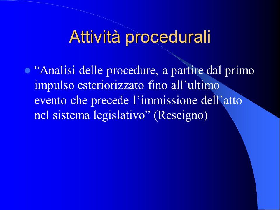 Attività procedurali