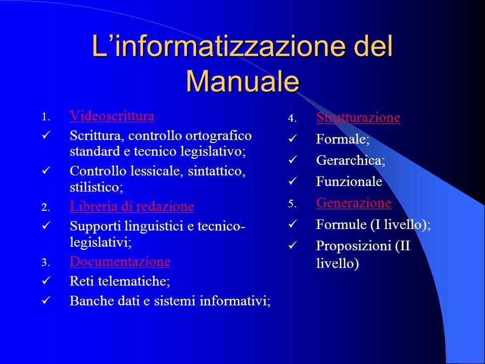 L'informatizzazione del Manuale