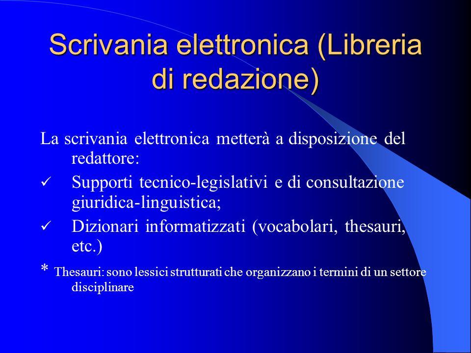 Scrivania elettronica (Libreria di redazione)