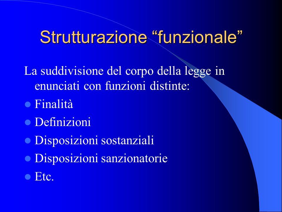 Strutturazione funzionale