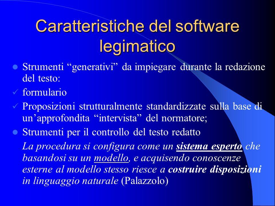 Caratteristiche del software legimatico