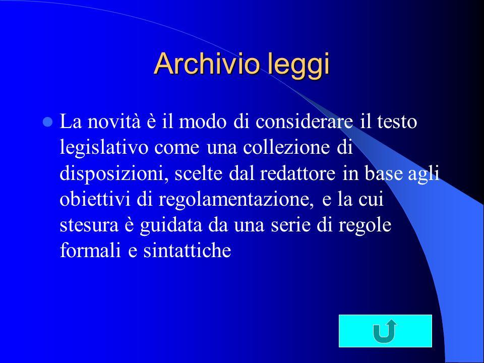 Archivio leggi