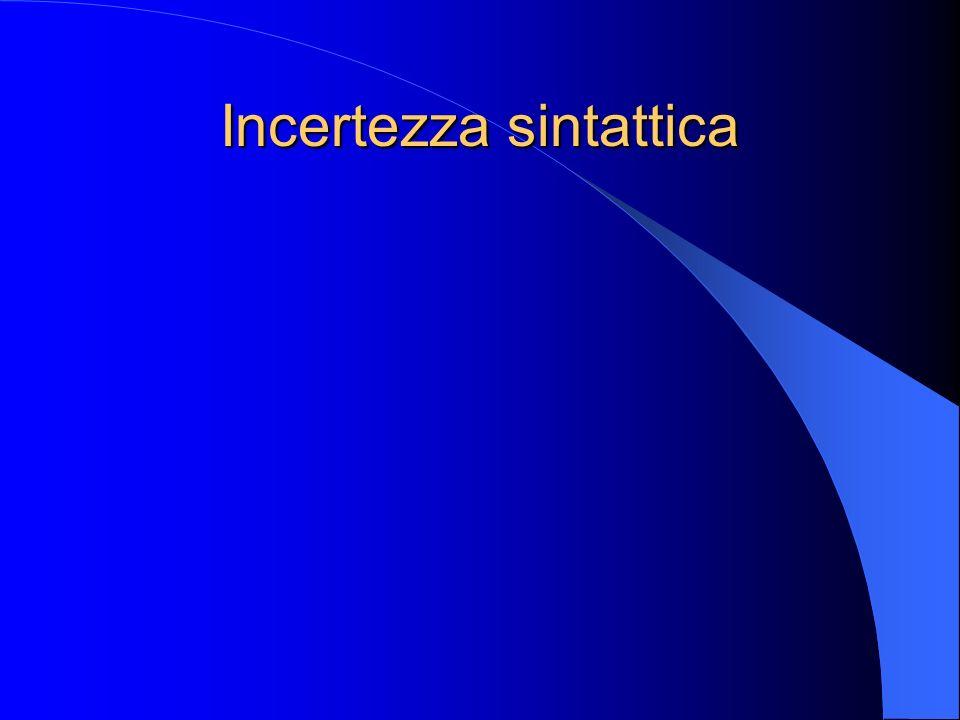 Incertezza sintattica
