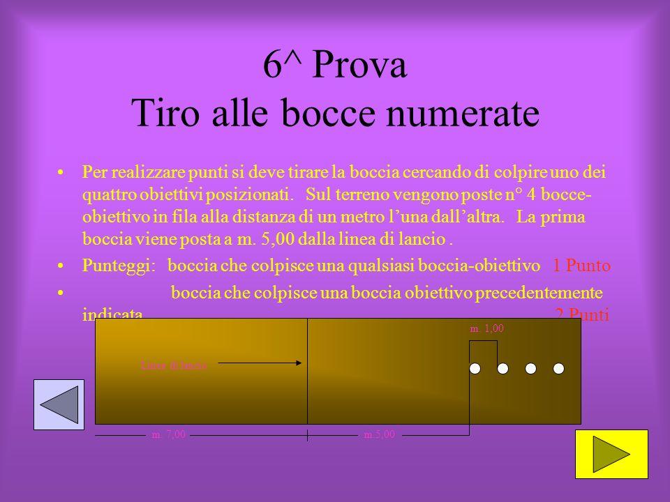 6^ Prova Tiro alle bocce numerate