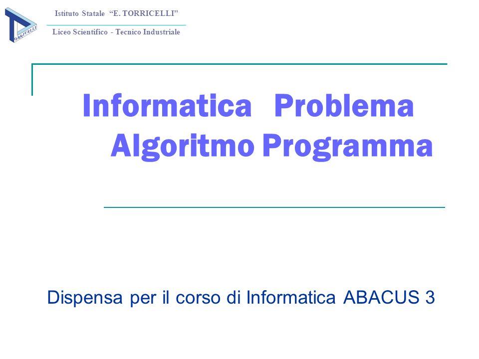 Informatica Problema Algoritmo Programma