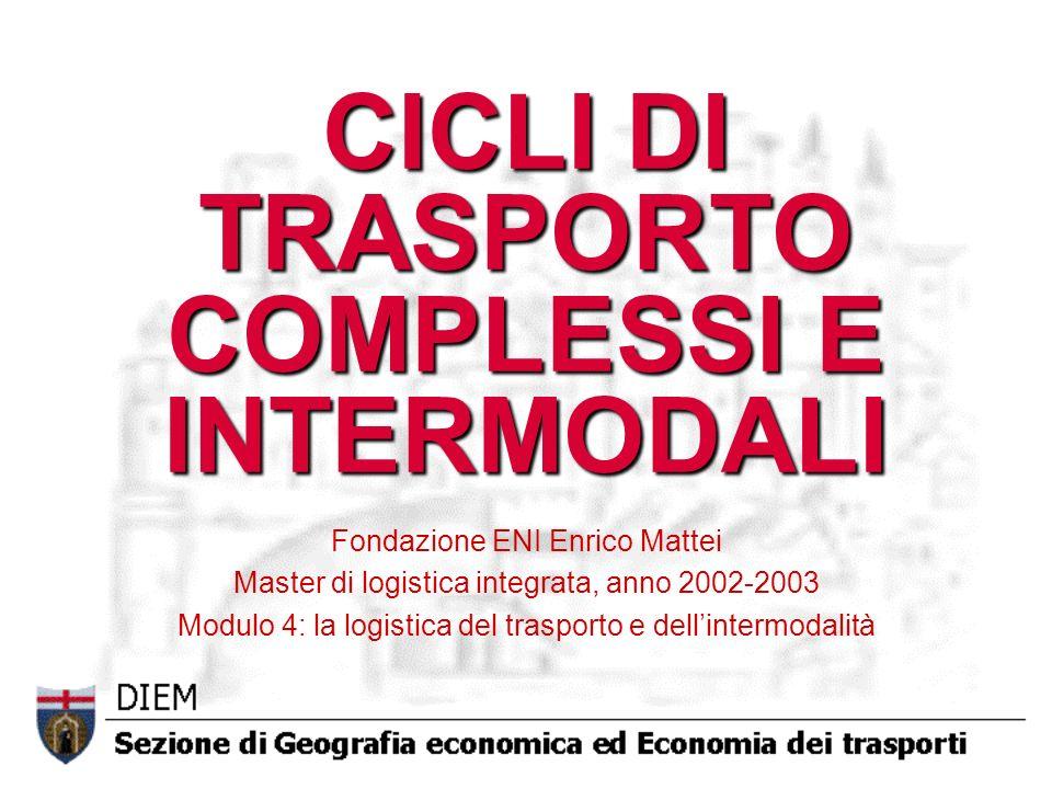 CICLI DI TRASPORTO COMPLESSI E INTERMODALI
