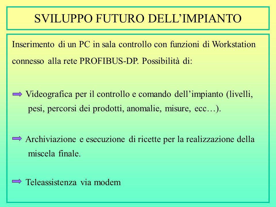 SVILUPPO FUTURO DELL'IMPIANTO