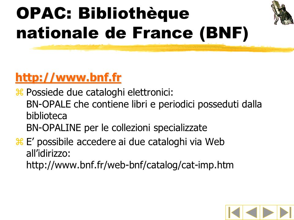 OPAC: Bibliothèque nationale de France (BNF)