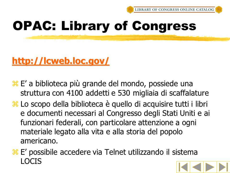 OPAC: Library of Congress