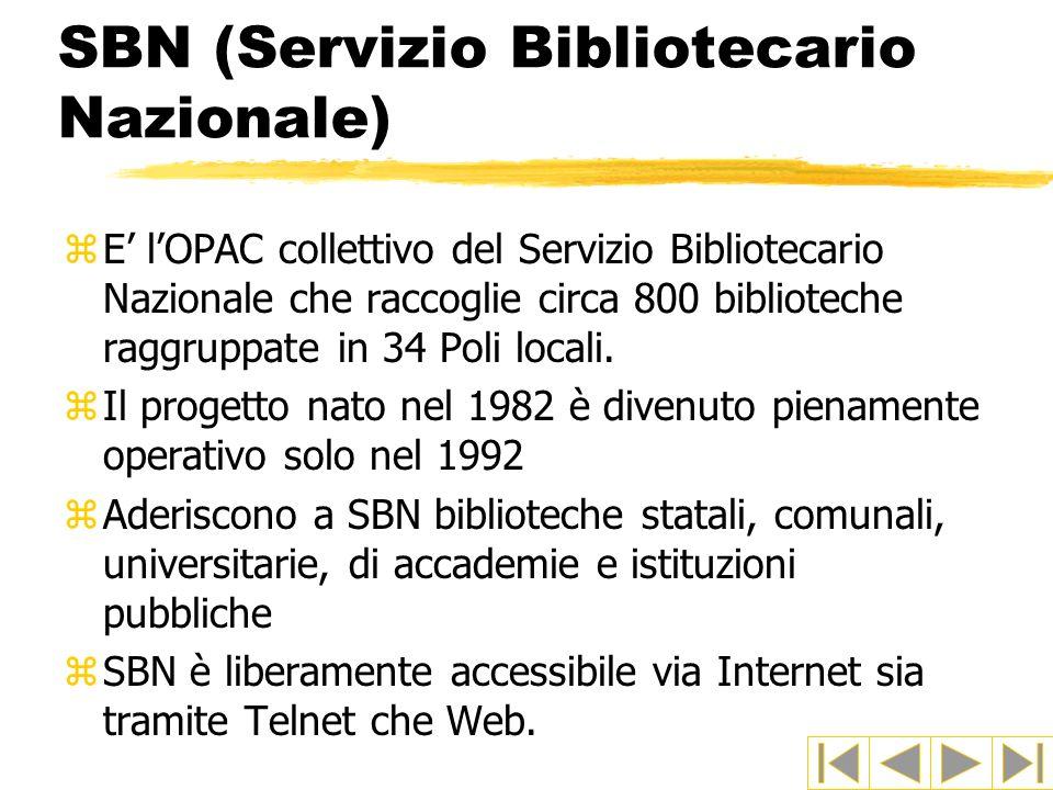 SBN (Servizio Bibliotecario Nazionale)