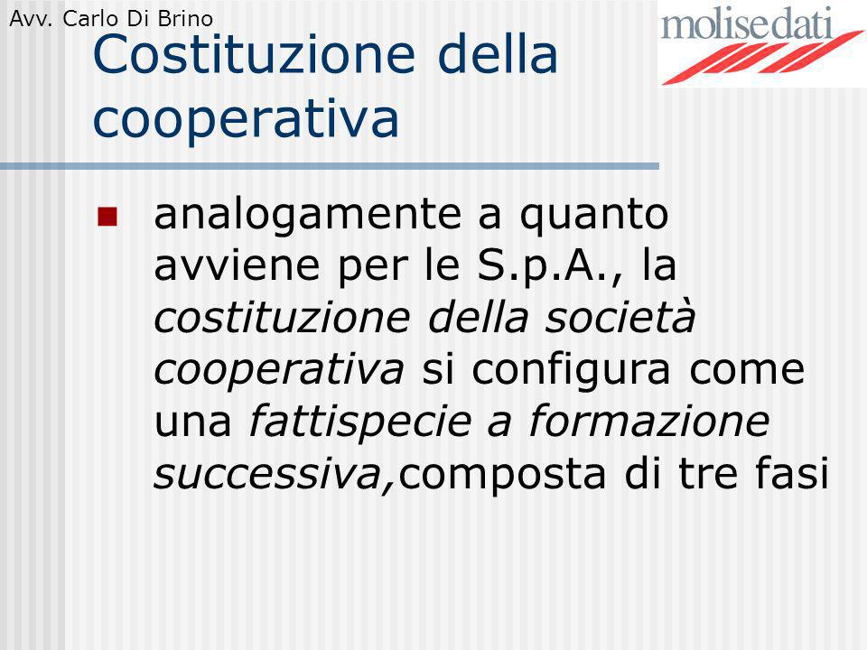 Costituzione della cooperativa