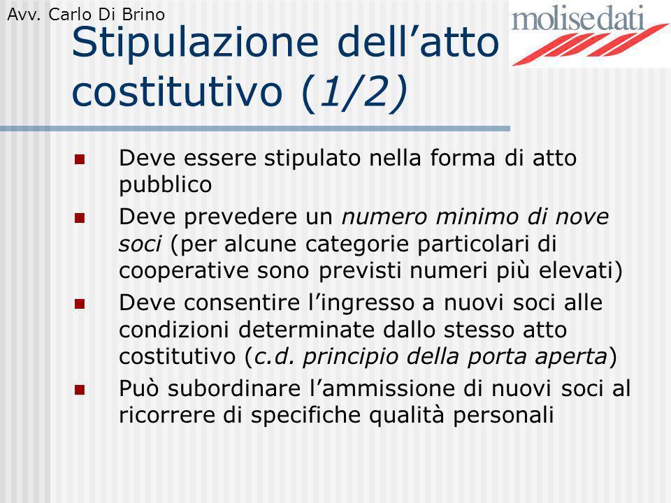 Stipulazione dell'atto costitutivo (1/2)