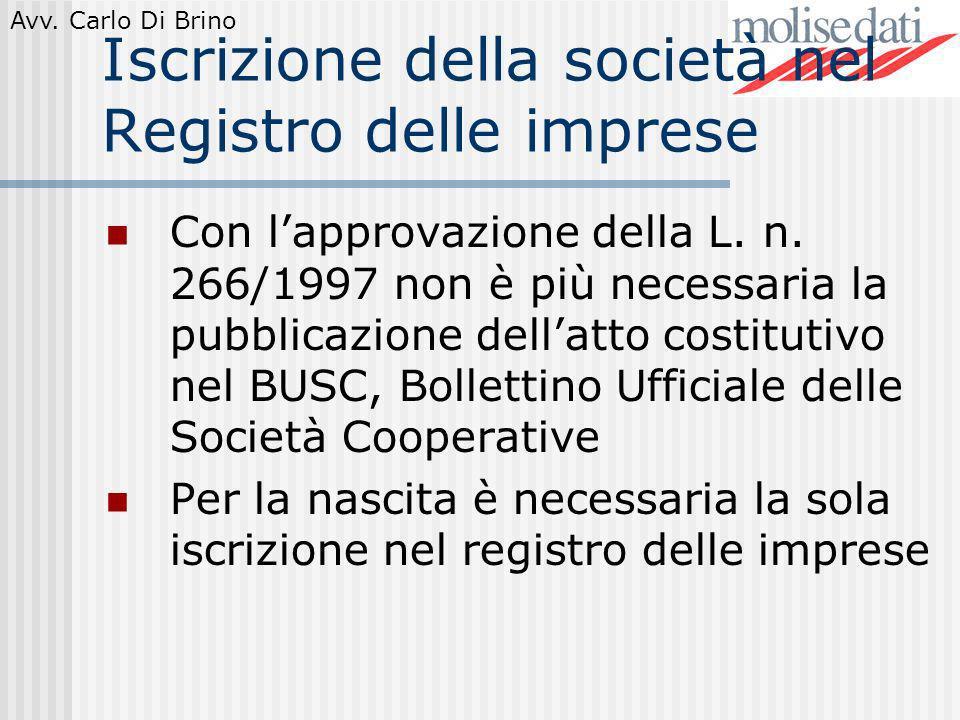 Iscrizione della società nel Registro delle imprese