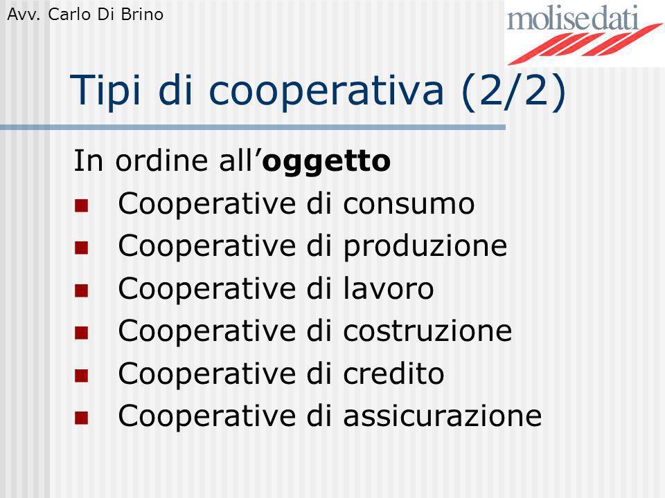Tipi di cooperativa (2/2)