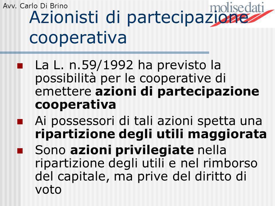 Azionisti di partecipazione cooperativa