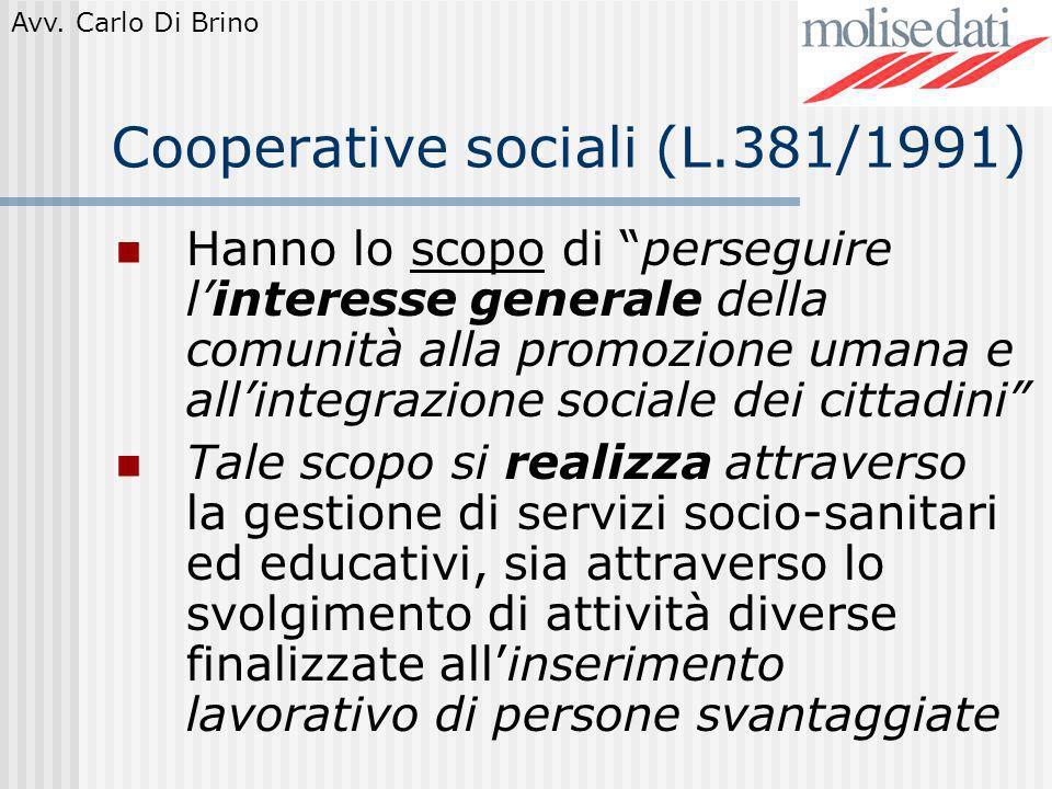 Cooperative sociali (L.381/1991)