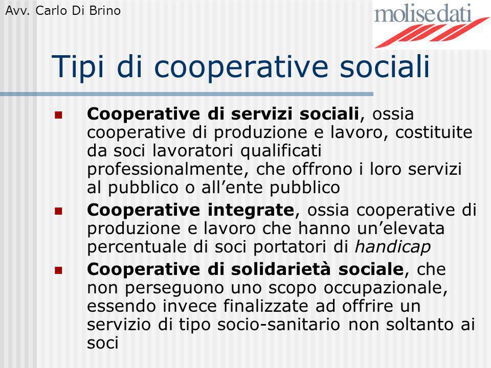 Tipi di cooperative sociali