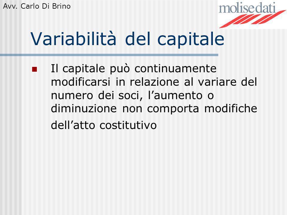 Variabilità del capitale